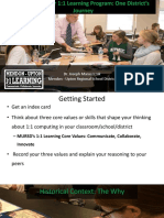 1to 1 Learning Evaluation Experience