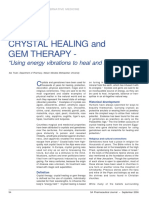 "CRYSTAL HEALING and GEM THERAPY - ""Using energy vibrations to heal and harmonise"""
