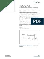 TDC GPX2 Datasheet