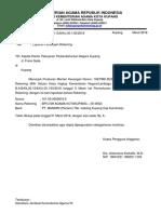 Surat Pengantar Penutupan Rekening