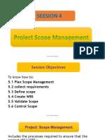 4. Project Scope Management