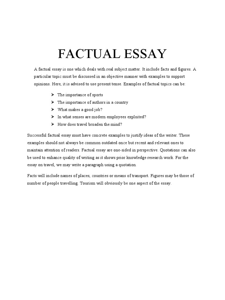 factual essay example