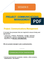 9. Project Communications Management