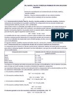 DETERMINACIÓN DE NaOH, NaHCO3, Na2CO3 O MEZCLAS POSIBLES EN UNA SOLUCION ALCALINA