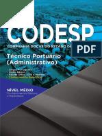 Apostila Codesp t Cnico Portu Rio Administrativo 241 Pgs Nova