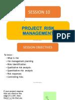 10. Project Risk Management