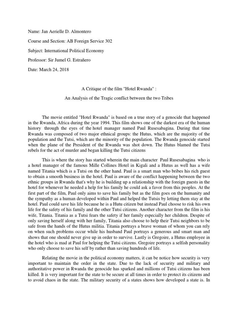 Movie Analysis of Hotel Rwanda - blogger.com