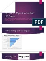 bias and opinion in the uk press