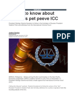Things to Know About Duterte's Pet Peeve ICC