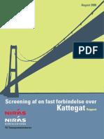 Niras' screeningsrapport om en fast forbindelse over Kattegat fra 2008
