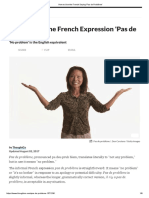 How to Use the French Saying 'Pas de Problème'