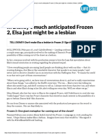 In Disney's Much Anticipated Frozen 2, Elsa Just Might Be a Lesbian _ News _ LifeSite