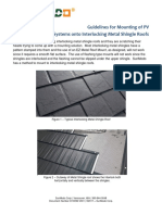Installation Guidelines for Mounting PV on Interlocking Metal Shingle Roofs