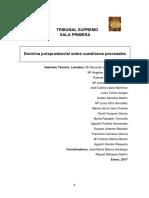 20170131 TS Sala1 Doctrina Jurisprudencial Sobre Cuestiones Procesales. Enero 2017
