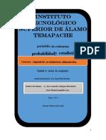 P.E Probablidad y Estadistica(Unidad 1). ING. Alimentos 201 A