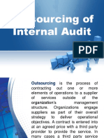 Outsourcing of Internal Audit
