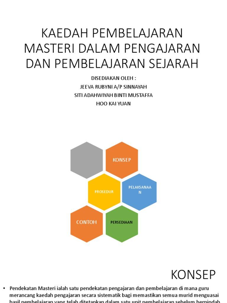 Kaedah Pembelajaran Masteri Dalam Pengajaran Dan Pembelajaran Sejarah