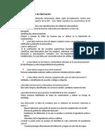 Cuestionario Actividad Nom 059 Numeral 10 Sistemas de Fabricación