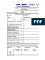 Steel Reinforcement Checklist
