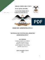 Sistemas de Fuentes Del Derecho Administrativo