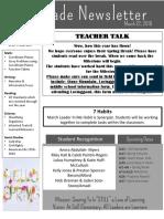 Newsletter Qtr 4 3-22-18