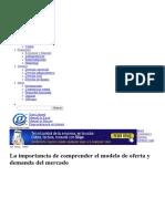 La Importancia de Comprender El Modelo de Oferta y Demanda Del Mercado _ Gerencie