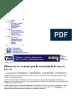 Efectos en La Economía Por La Variación de La Tasa de Interés _ Gerencie