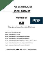 Tnpsc Model Certificates Final