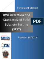 2015 NHTSA SFST Combined Instructor & Student Manual