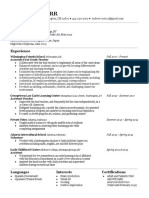 carr resume