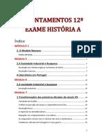 Resumos Exame Nacional História A
