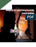 Mengenali Diri Untuk Entrepreneurship Tumbuh Kembang [Read-Only]