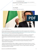 Private Equity Fights Italy Tax Changes
