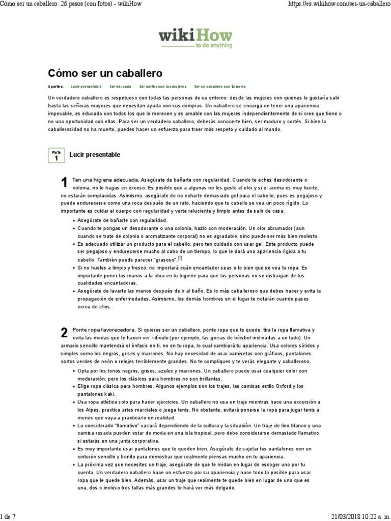 a84616093ecf Cómo Ser Un Caballero_ 26 Pasos (Con Fotos) - WikiHow