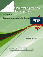 Rapport du Comité Consultatif en Matière d'Affaires Francophones 2018
