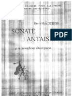 Sonate Fantasie Dubois for Sax and Piano