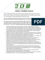 Proposition 1 Proposed Mobility Projects