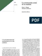 03.Berger, P. y Luckmann, T. (2003). La Construcción Social de La Realidad. Cap. I (Pp. 34-63)