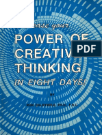 Increase Your Power of Creative Thinking in Eight Days