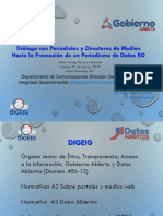 Presentación del Diálogo con periodistas y directores de medios sobre periodismo de Datos RD