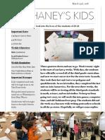 Mr. Haney's Week 28 Newsletter