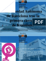 Rosa Olivis - Universidad Autónoma de Barcelona Trae La Primera Carrera deFeminismo
