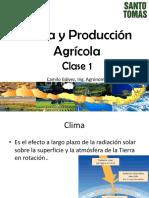 Clima y Producción AgrÃ_cola Clase 1