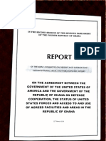 Joint Committee Report on GoG - US Gov Defence Cooperation Agreement