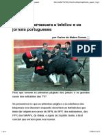 Coronel Desmascara o Telelixo e Os Jornais Portugueses