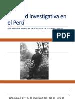 Realidad Investigativa en El Perú