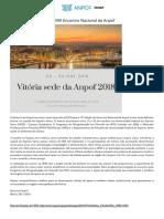 ANPOF - Vitória_ES Será Sede Do XVIII Encontro Nacional Da Anpof