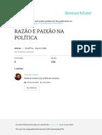 Razao e Paixao Na Politica