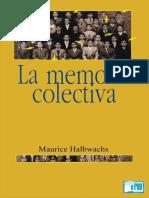 Maurice Halbwachs - La memoria colectiva