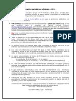 Normativa de Licença Prêmio 2014 GAE